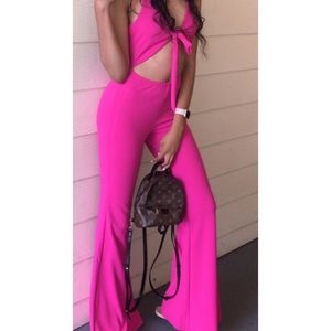 Brand new hot pink jumpsuit